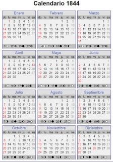 calendario 1844
